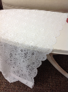 WHITE LACE PANEL SCALLOPED EDGE 4.5'x7'