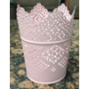 METAL VOTIVE HOLDER - PINK