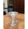 GLASS CANDLESTICK 4.5