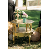 GOLD 2 TIER SIDE TABLE