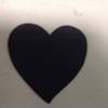 CHALKBOARD LABEL - MEDIUM HEART