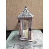 LANTERN SILVER/WHITEWASHED WOOD