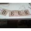 BEER BURLAP BANNER