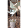 METAL VOTIVE HOLDER - WHITE