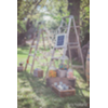 VINT WOOD LADDERS (FREE STANDING) W/ PLANKS