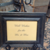 WELL WISHES FOR THE MR & MRS FRAMED SIGN