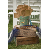 MED GREEN VINT WOOD BUCKET