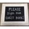 GUEST BOOK (IVORY SQUARE) CHALKBOARD
