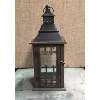 LANTERN DISTRESSED BRONZE/WOOD