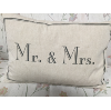 MR & MRS PILLOW GREY LETTERS