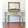 FARM TABLE GREEN DISTRESSED