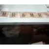 MR & MRS PNTD LACE BURLAP TABLE BANNER