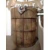 MED BROWN VINT WOOD BUCKET