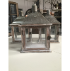 WOOD/METAL LANTERN - SMALL