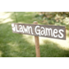 LAWN GAMES - WOOD STAKED SIGN