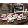 MISMTACHED TEA CUP/SAUCER SET