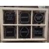 ANT 6 PANE  - SCHEDULE CHALKBOARD WINDOW W/ FEET