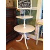 VINTAGE WHITE 2 TIER STAND/TABLE