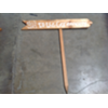 THIS WAY TO THE CEREMONY - WOOD STAKED SIGN - RIGHT ARROW