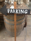ARROW PARKING CHALKBOARD ON WOODEN STAKE