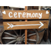 CEREMONY - WOOD STAKED SIGN