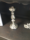 LRG SILVER CANDLE HOLDER