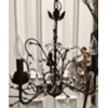 MED RUSTIC BLACK CHANDELIER