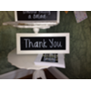 THANK YOU - SMALL WHITE FRAMED CHALKBOARD