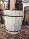 MED WHITE WOOD BUCKET