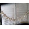 SWEET LOVE MINI BURLAP W/WHITE LETTERS