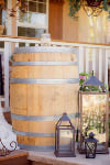 WINE BARRELS - UNSTAINED W/ LRG HOLE
