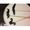 SET OF 10 MUSTACHES ON A STICK - VARIETY