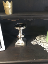 TALL WIDE SILVER CANDLE HOLDER
