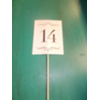 IVORY PAPER TABLE NUMBERS ON STICK