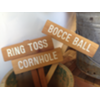 BOCCE BALL WOOD STAKED SIGN