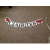 CARDS BANNER LARGE WHITE W/RED HEARTS