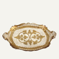 ivory florentine tray