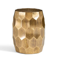 Vince gold accent stool