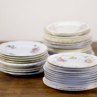 vintage china bread & butter plates
