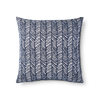 navy velvet chevron pillow