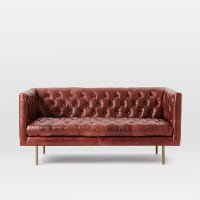Cirrus leather chesterfield