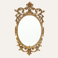 Turner gold mirror