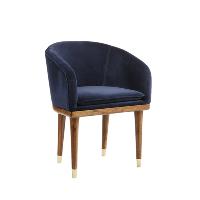 Lenyx navy velvet chairs