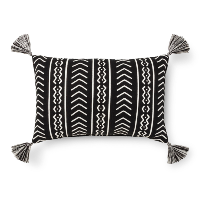 black tribal lumbar pillow (b)