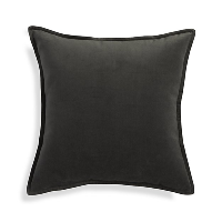 grey velvet pillow (b)