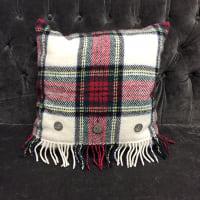 red tartan pillow