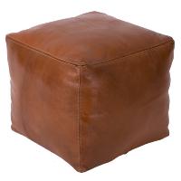 tobacco square pouf
