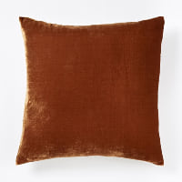 copper velvet pillow