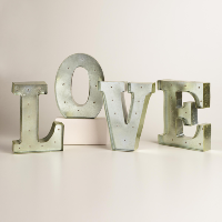 silver love marquee lights