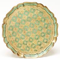 sage florentine tray